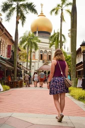 Masjid Sultan Mosque on Muscat Street in the Arab Quarter, Singapore // Out Of Office With Rebecca